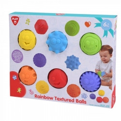 PlayGo Rainbow Textured Balls - 6