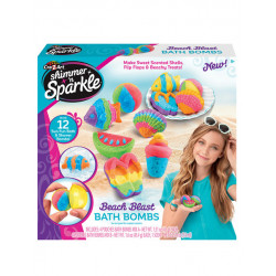 Cra-Z-Art Shimmer And Sparkle: Make Your Own Bath Bomb, Beach Blast