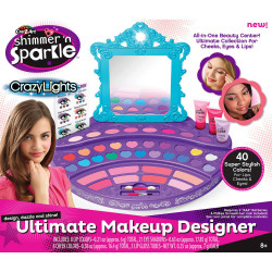 Cra-Z-Art Shimmer N Sparkle Ultimate Makeup Designer Lighted Mirror Table Top Vanity