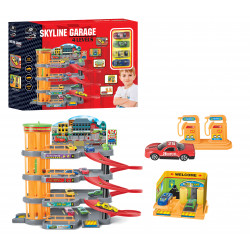 P. JOY VROOM VROOM MULTI LEVEL SKYLINE GARAGE WITH 4 CARS