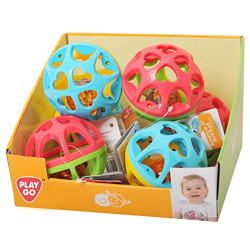BOUNCE N' ROLL BALL - 2 ASSORTED - 6 PCS IN A DISPLAY