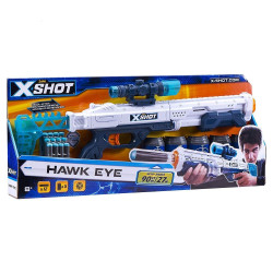 Zuru X-Shot Plastic Excel Hawk Eye 5 Cans with 12 Dart