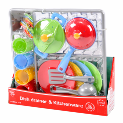 PlayGo Dish Drainer & Kitchen Ware, 23 pcs