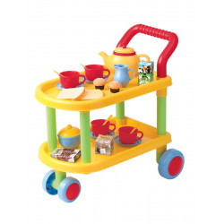 PlayGo Tea Time Trolley Set, 23-piece