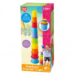 PlayGO Rainbow Stackin Cups - 10 pcs