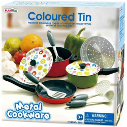 PlayGo Colored  Tin - 8 PCS (Metal Cookware)