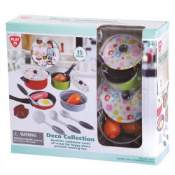 PlayGo Deco Collection - 15 PCS (Metal Cookware)