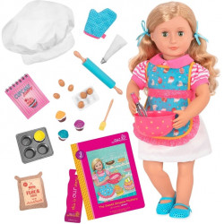Our Generation Jenny Deluxe Doll with Book (Cupcakes Apron)