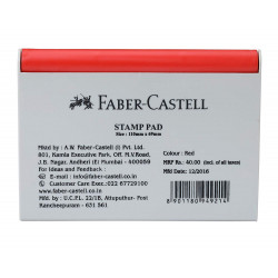 Faber-Castell Stamp Pad Medium Red