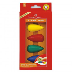 Faber Castell Wax Crayons Grip earl -age 4cl