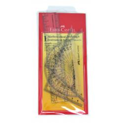 Faber Castell- Plastic wallet geometry set