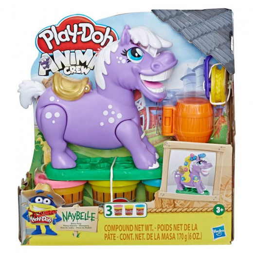 Play-Doh Animal Crew Naybelle Show Pony Farm 3 Non-Toxic Play-Doh Colors