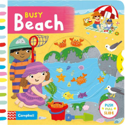 Busy Beach (Busy Books) Board Book, 10 pages