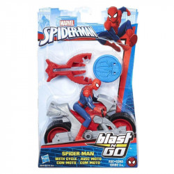 Marvel Spiderman Blast And Go Racer Spiderman With Cycle