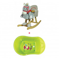 ababy Wooden Horse Offer - Buy One Wooden Horse and get Farlin - Baby Bath for FREE