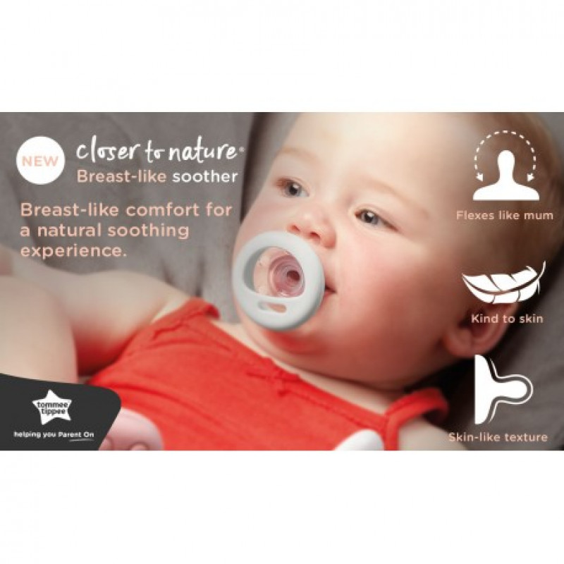 pack of 2 Tommee Tippee Breast Like Soothers 0-6 Months