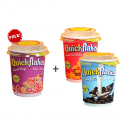Quickflakes Corn Flakes Cupes, Buy 2 and Get 1 FREE, Different Flavors