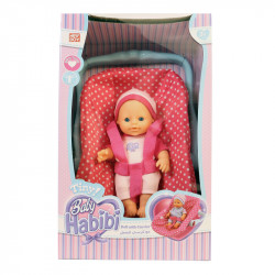 Baby Habibi - Tiny Doll with Carrier - Pink