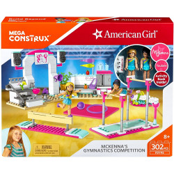 Mega Blocks Construction American Girl's Mckenna's Gymnastics Competition Building Set