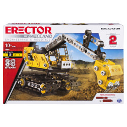 Meccano, 2-in-1 Excavator and Bulldozer