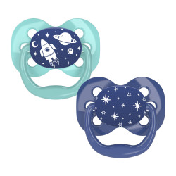 Dr. Brown's Advantage Pacifier - Stage 1, 2-Pack, Blue