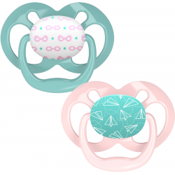 Dr. Brown's Advantage Pacifier - Stage 2, 2-Pack, Pink