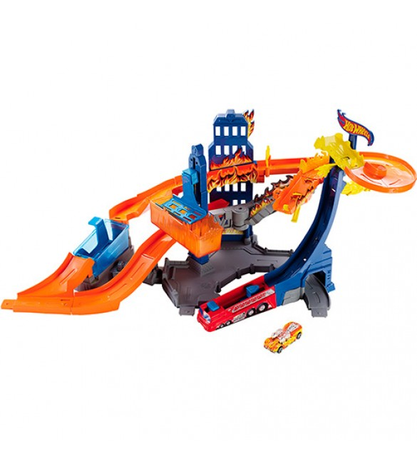 Hot Wheels Color Shifters Flame Fighter Playset