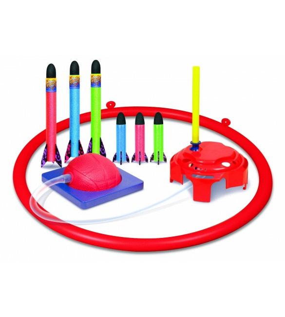 Geospace Jump Rocket Deluxe Set - with Adjustable Launcher, Target