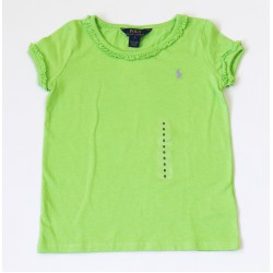 Polo Ralph Lauren Lindy Ruffled Tee Girls, 6 Years