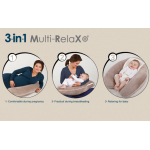 Candide Multirelax 3-in-1 Maternity Pillow and Infant Seat, Jersey, Blue