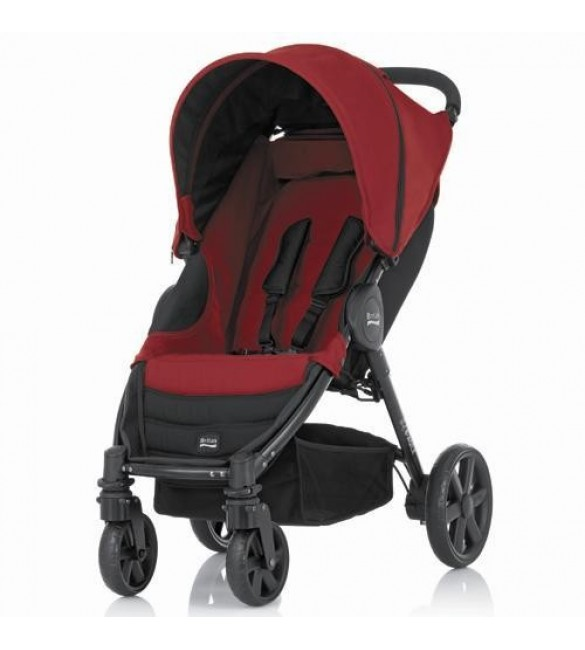 Britax B-Agile 4 Pushchair from Birth to 4 Years Chili Pepper
