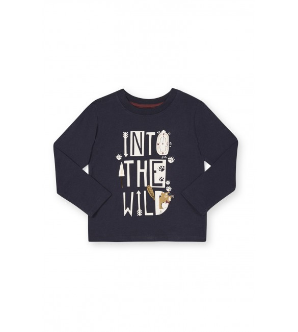 Navy Into The Wild Long Sleeve T-Shirt, 12-18 Months