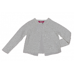 Primark Young Dimension Ivory Sequin Crop 6-7 Years