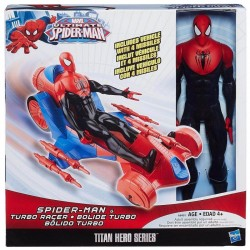 Marvel Ultimate Spider-Man Titan Hero Series Spider-Man Figure with Turbo Racer Vehicle