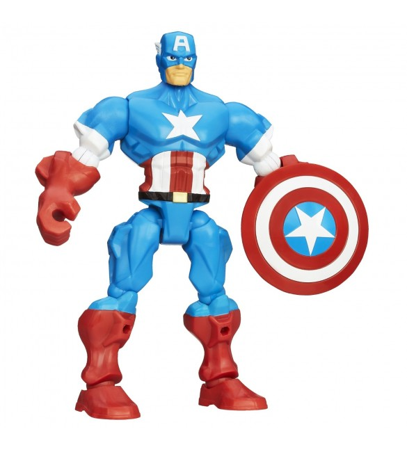Marvel Super Hero Mashers Captain America Figure 6 inches