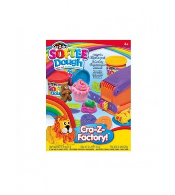 CRAZART - SOFTEE DOUGH SUPER HAIR & PLAY SHOP ASST