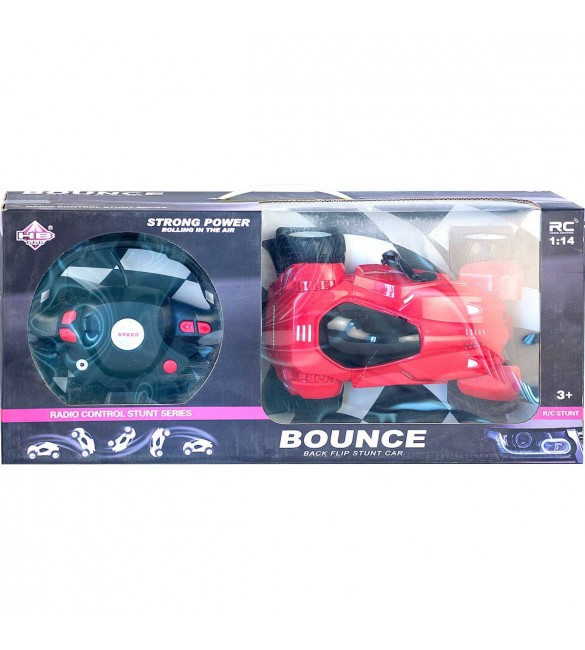 Strong Power Bounce Back Flip Stunt Car-Red Colour