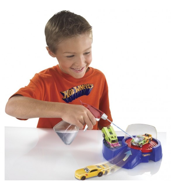 Hot Wheels Color Shifters Spin Cycle Deluxe Playset