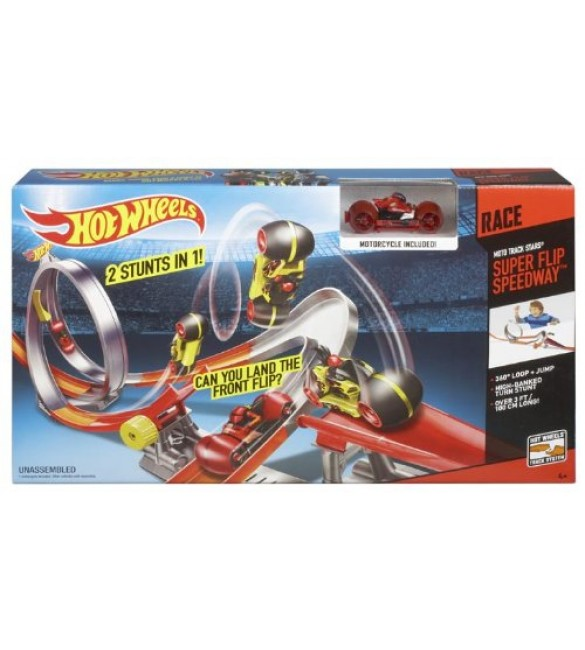 Hot Wheels Moto Racer Performance Raceway Trackset