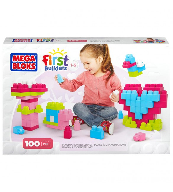Mega Bloks First Builders Imagination Building - Pink 100 pcs