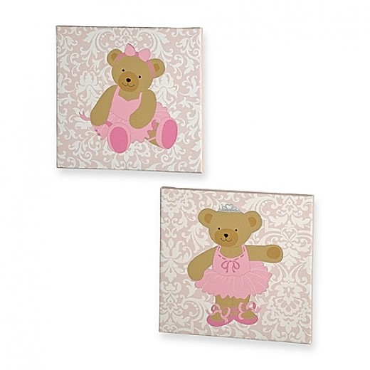 Kids Line™ Twirling Around 2-Piece Canvas Wall Art Set