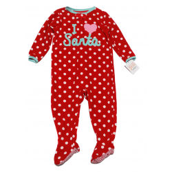 Carter's Newborn Christmas I love Santa Babysuit 2 Years