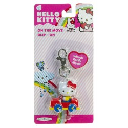 Hello Kitty On The Move Clip-On - Red Car
