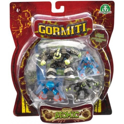 Atomic Gormiti Four Figure Blister Pack
