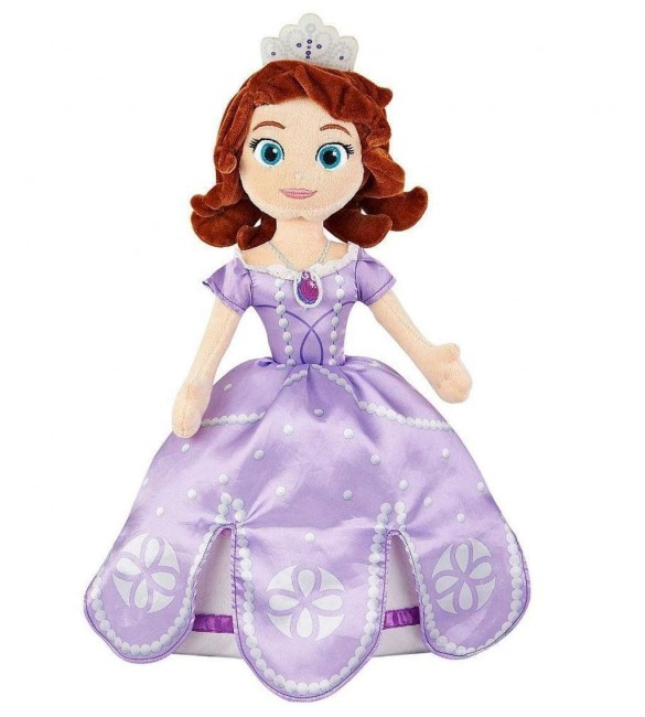 "Disney Sofia The First 18"" Plush Cuddle Pillow Doll Toy Pillowtime Pal"