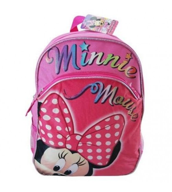 Minnie Mouse 16-Inch Large School Backpack Micro Silk Printing