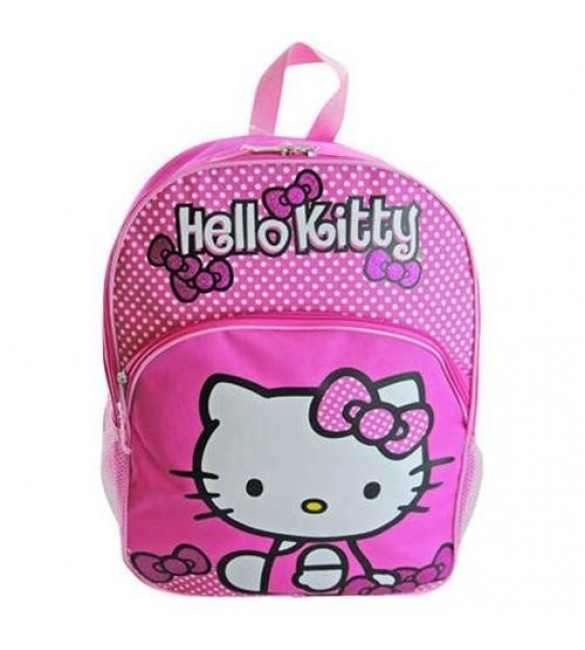 """Hello Kitty 16"""" Pink Dots Backpack"""