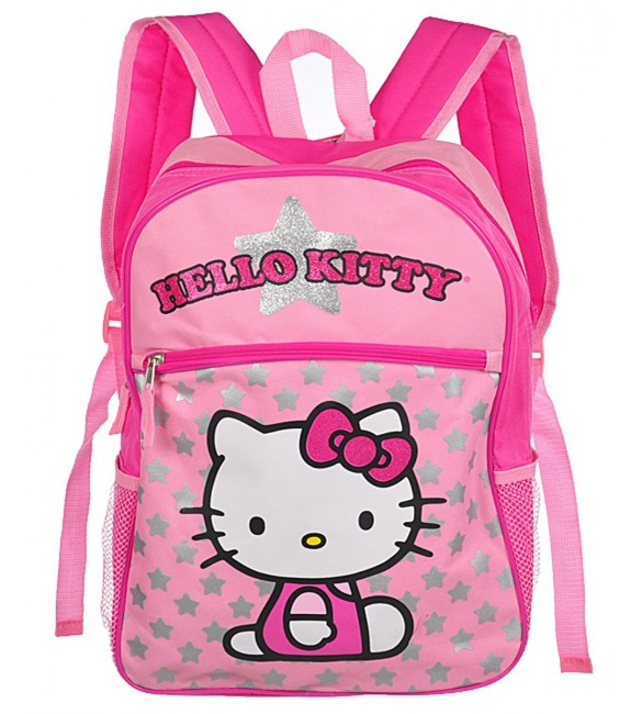 """Hello Kitty 16"""" Basic Backpack with One Large Front Pocket"""