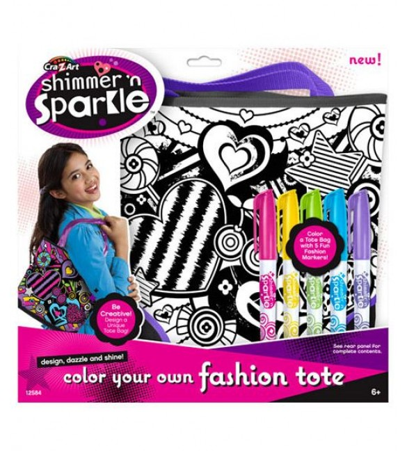 SHIMMER 'N SPARKLE COLOR YOUR OWN FASHION TOTE