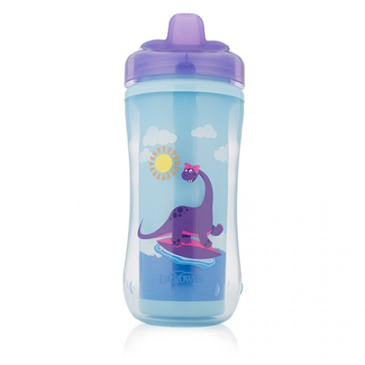 Dr. Brown's Hard-Spout Insulated Cup Purple Dino-12m+